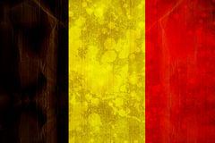 Belgium flag in grunge effect Stock Images