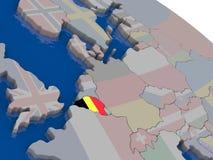 Belgium with flag Royalty Free Stock Photo