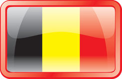 Belgium Flag Icon. Belgium Flag. Glass Style. Vector available Stock Photo