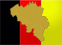 Belgium flag and map Stock Photo