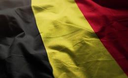 Belgium Flag Rumpled Close Up.  royalty free stock photo