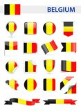 Belgium Flag Vector Set Stock Photo