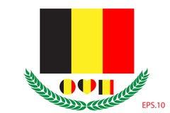 Belgium Flag vector illustration. Belgium Flag. Stock Image