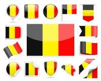 Belgium Flag Vector Set Stock Photos