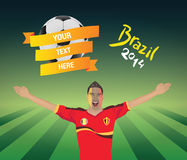 Belgium football fan Royalty Free Stock Image