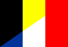 Belgium france flag Royalty Free Stock Images