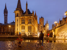 Belgium. Gent at night. Royalty Free Stock Photography