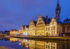 Belgium. Gent at night Stock Image