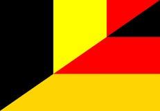 belgium germany flag Royalty Free Stock Photos