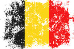Belgium grunge, old, scratched style flag Royalty Free Stock Image