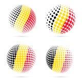 Belgium halftone flag set patriotic vector design. Royalty Free Stock Photos