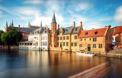 Belgium - Historical centre of  Bruges river view. Old Brugge bu Stock Image