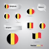 Belgium icon set of flags Stock Image