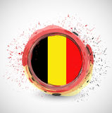 Belgium ink circle flag illustration design Royalty Free Stock Photos
