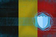 Belgium internet protection. Net protection concept. Royalty Free Stock Image