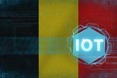 Belgium IOT (Internet of things). IOT modern concept. Stock Photography