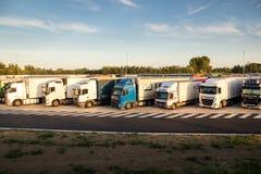 Truck overnight parking royalty free stock photos