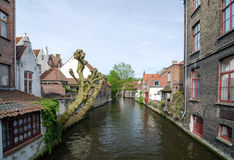 belgium kanał Bruges Zdjęcie Royalty Free