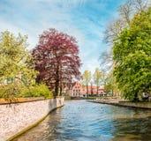 belgium kanał Bruges Obraz Royalty Free