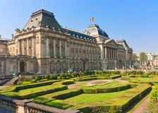 The Belgium King Palace. Belgium King Palace Building with the French style garden where the king govern the parliament and its annual works Royalty Free Stock Photos