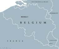 Belgium and Luxembourg political map Royalty Free Stock Images