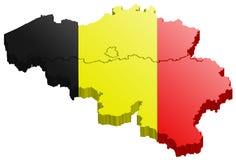 Belgium map 3d vector