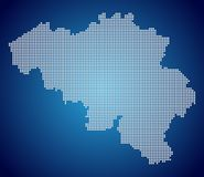 The Belgium Map - Pixel royalty free stock photo