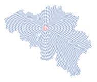 Belgium map radial dot pattern Royalty Free Stock Photo