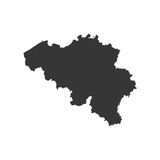 Belgium map silhouette. On the white background. Vector illustration Stock Photo
