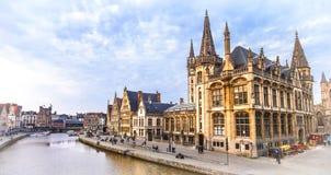 Belgium. medieval Ghent Stock Image