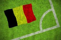 Belgium national flag Royalty Free Stock Photo
