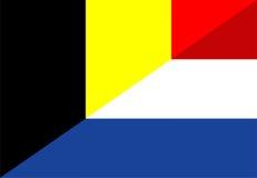 Belgium netherland flag Royalty Free Stock Photos