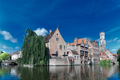 Belgium,old Brugge canal Stock Photography