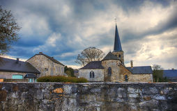 Belgium old church in Durbuy Stock Photography