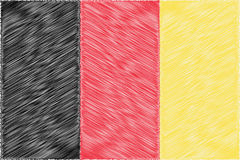 Belgium pencil drawing vector illustration flag. Using for decoration works Royalty Free Stock Image