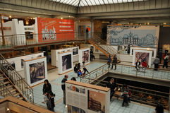 Belgium, picturesque comic strip museum of  Brussels Stock Image