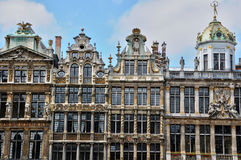 Belgium, picturesque Grand Place of  Brussels Stock Images