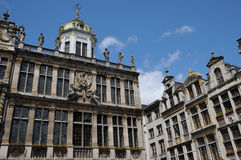 Belgium, picturesque Grand Place of  Brussels Stock Photos