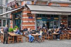 Belgium, picturesque Sablon district of  Brussels Royalty Free Stock Images