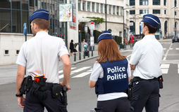 Belgium Police Royalty Free Stock Photo