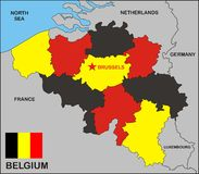 Belgium Political Map Royalty Free Stock Image