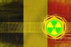 Belgium radioactive threat. Radiation hazard concept. Stock Images