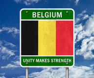 Belgium road sign Stock Photos