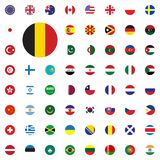 Belgium round flag icon. Round World Flags Vector illustration Icons Set. Belgium round flag icon. Round World Flags Vector illustration Icons Set Stock Images