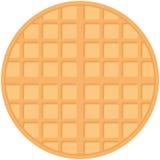 Belgium round waffles, pastel colors on white background. Vector royalty free illustration