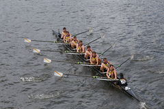 Belgium Rowing of Krns Osstende races in the Head of Charles Regatta Royalty Free Stock Image