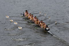 Belgium Rowing of Krns Osstende races in the Head of Charles Regatta Royalty Free Stock Photo