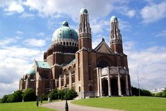 Belgium's National Basilica Stock Photos