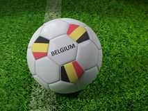 Belgium soccer ball Royalty Free Stock Images