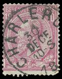 King Leopold The 2nd. Belgium - stamp printed in1900, Heads of State, Kings, King Leopold 2nd Royalty Free Stock Photography